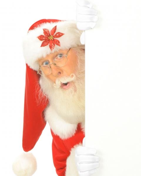 Santa-Peeking