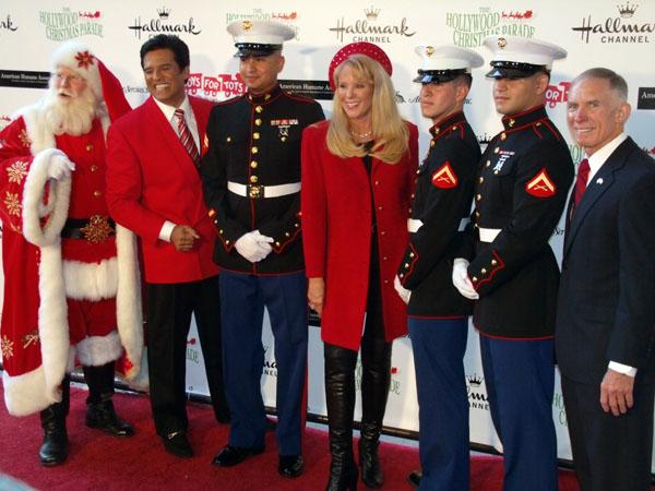 Erik Estrada, Laura McKenzie, Lt. Gen. Pete Osman for Toys for Tots