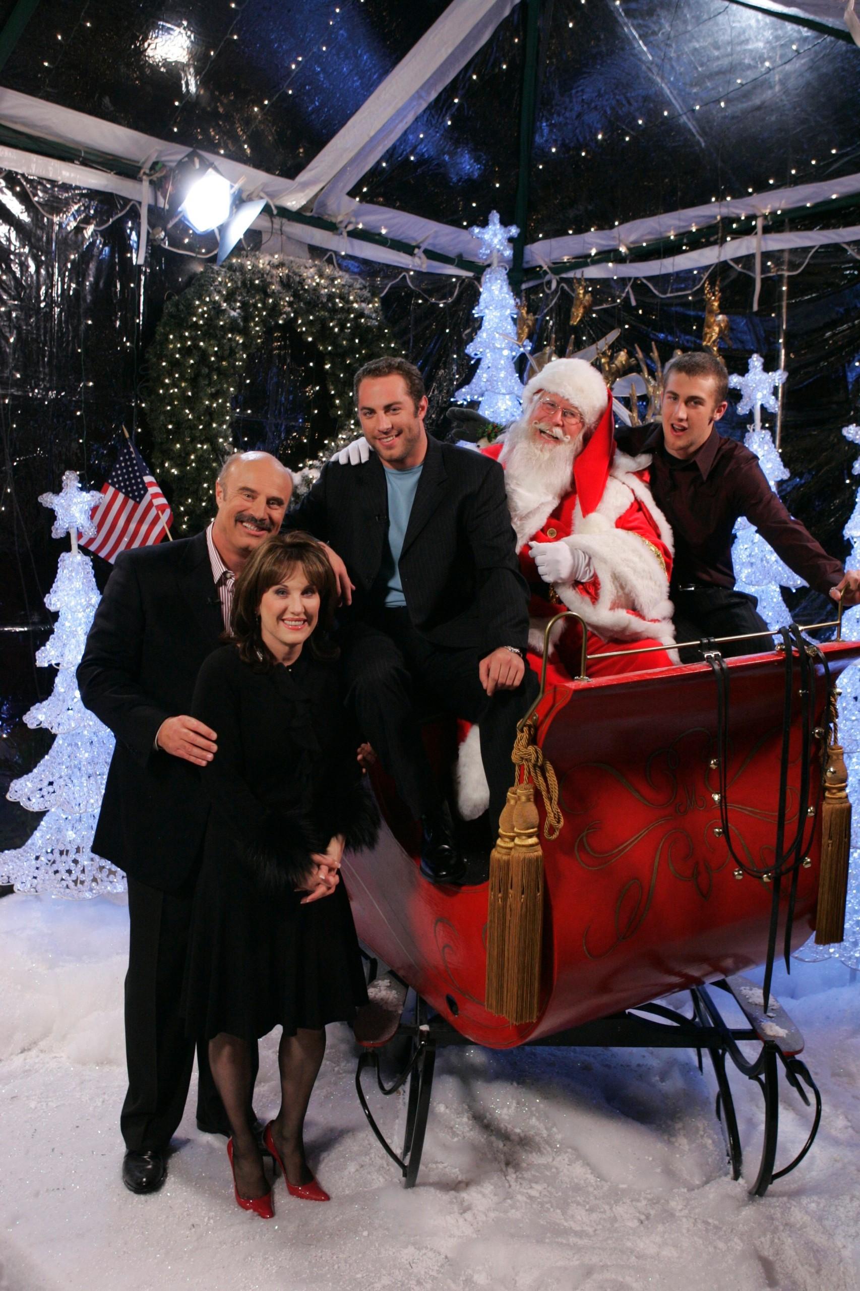 dr phil  u2013 robin  u2013 and family and santa