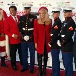 Erik Estrada, Laura McKenzie, Marines and Lt. General Pete Osman at HCP